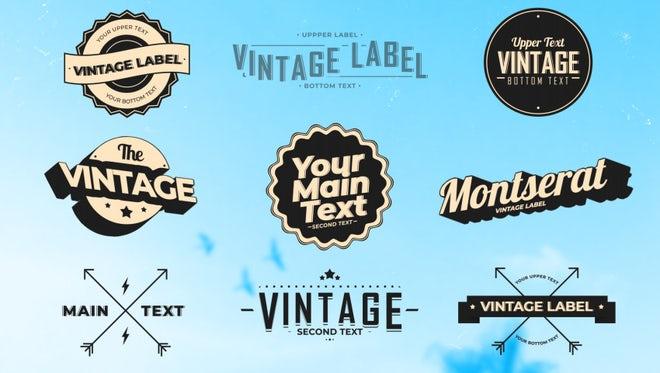 Vintage Labels 3: Motion Graphics Templates