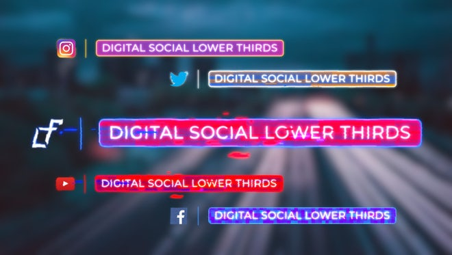 Digital Social Lower Thirds: After Effects Templates