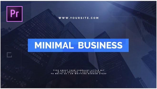 Minimal Business: Premiere Pro Templates