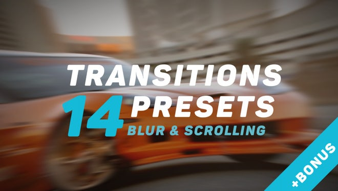 Transitions v.2: Premiere Pro Presets