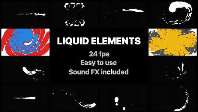 Liquid Elements And Transitions Pack: Stock Motion Graphics