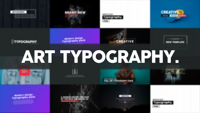 Art Typography: After Effects Templates