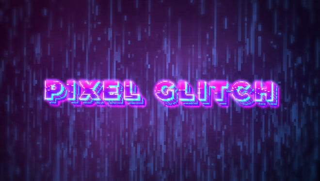 Pixel Glitch Intro: After Effects Templates