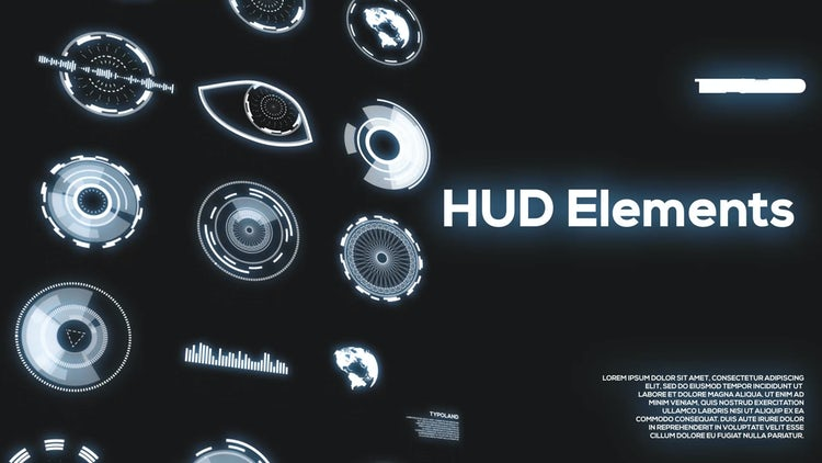 40 HUD Elements Pack: After Effects Templates