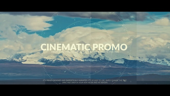 Trendy Cinema Promo: Premiere Pro Templates