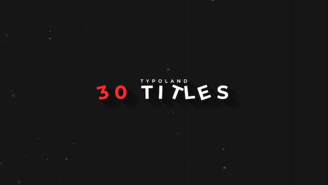 30 Minimal Titles & Lower Thirds: Motion Graphics Templates