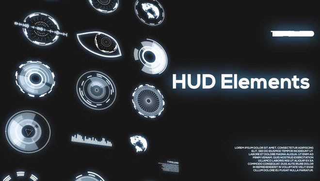 40 HUD Elements Pack: Motion Graphics Templates