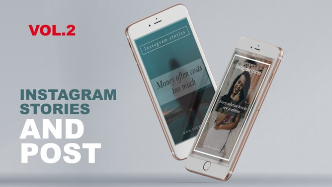 Instagram Stories and Post Vol.2: After Effects Templates