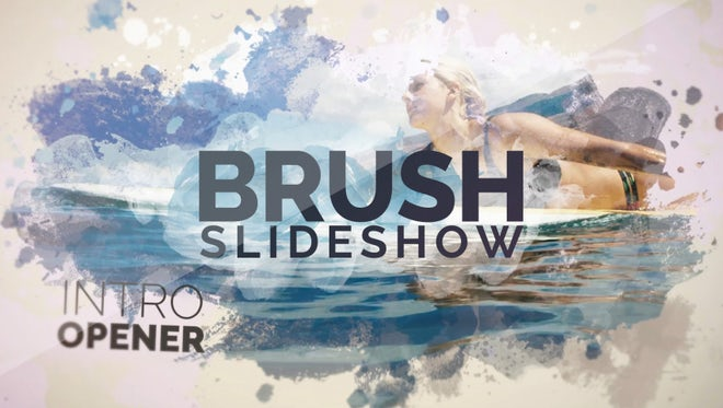 Brush Slideshow: Premiere Pro Templates