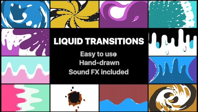 Liquid Motion Transitions Pack: After Effects Templates