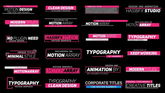 Minimal Typography: Motion Graphics Templates