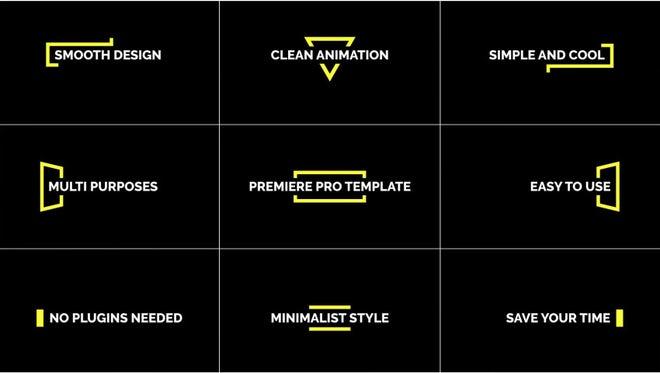 Single Line Title: Premiere Pro Templates