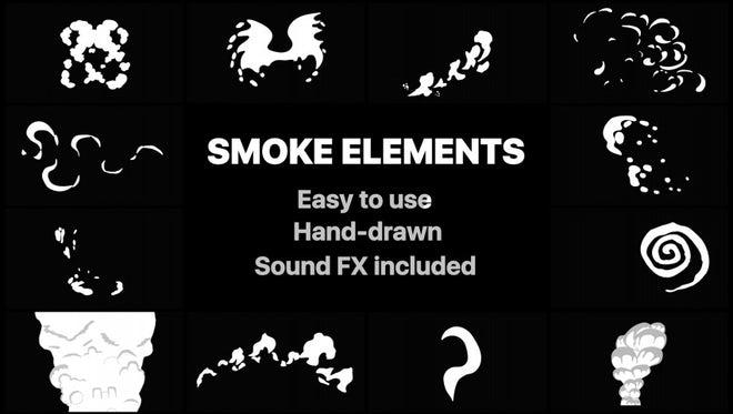 Cartoon Smoke Elements: Stock Motion Graphics