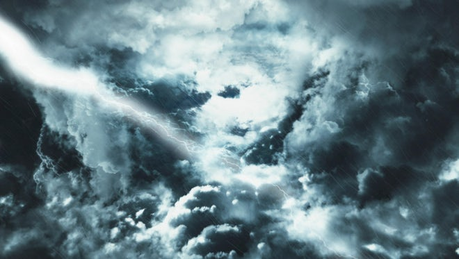 Flying Through Dark Storm Clouds: Stock Motion Graphics