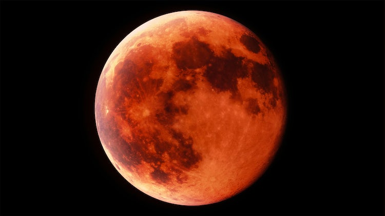 Red Moon Timelapse: Stock Motion Graphics