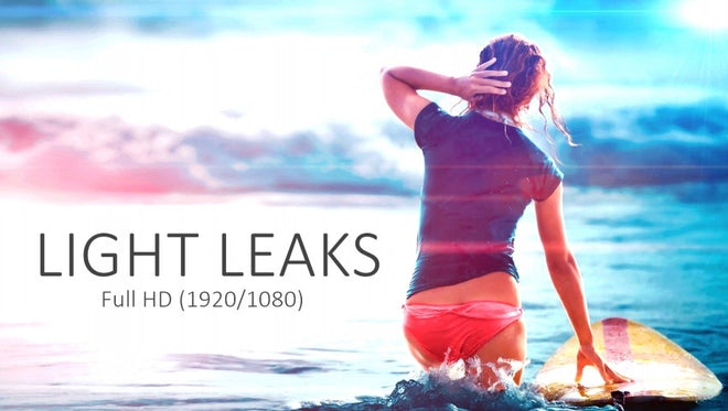 20 Light Leaks Pack: Stock Motion Graphics