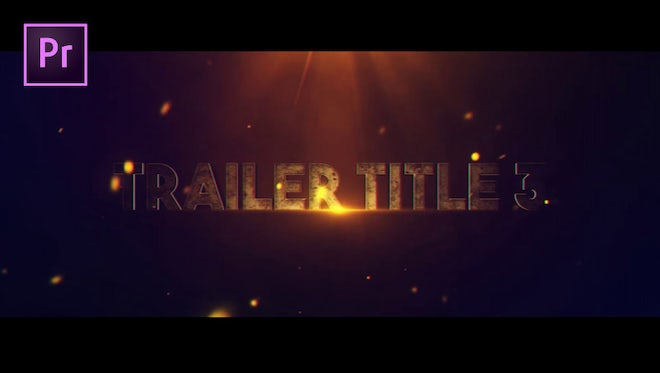 Trailer Title V.3: Motion Graphics Templates