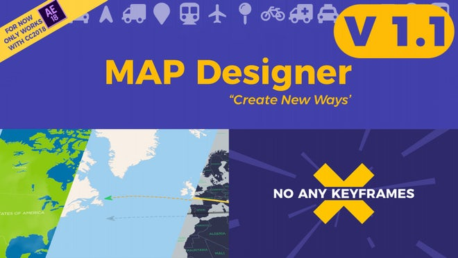 Map Designer V1.1: After Effects Templates