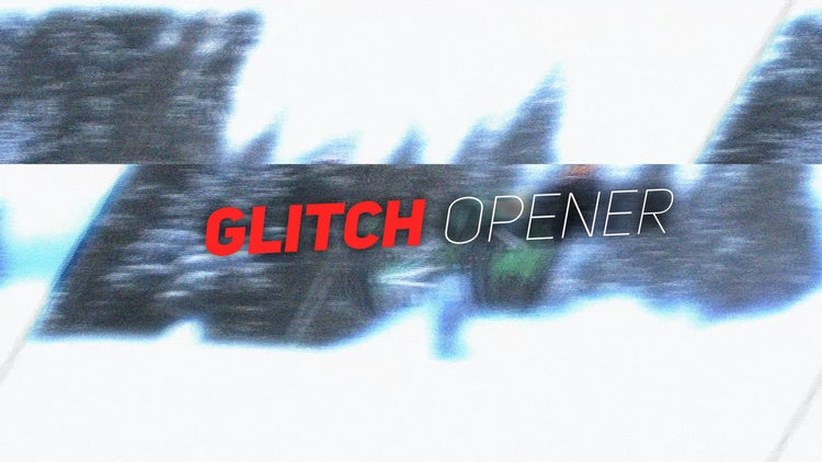 Stomp Glitch Opener: After Effects Templates