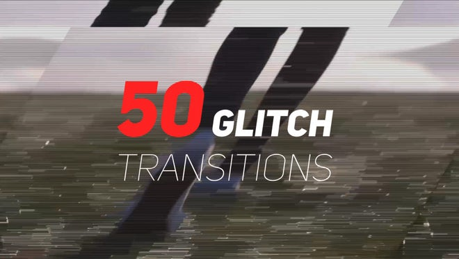 50 Glitch Transitions Presets: After Effects Presets