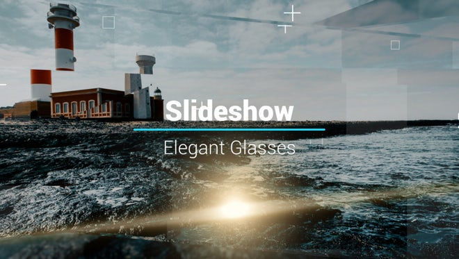 Slideshow - Elegant Glasses: After Effects Templates