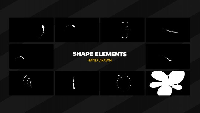 Swirls And Shapes Elements Pack: Stock Motion Graphics