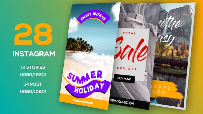 Trending Instagram Stories & Post: After Effects Templates