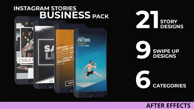 Instagram Stories Business Pack: After Effects Templates