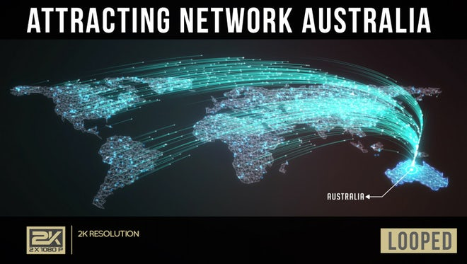 Attracting Network Australia: Stock Motion Graphics