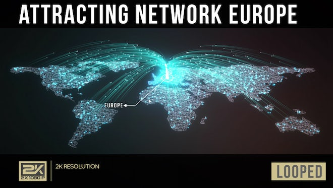Attracting Network Europe: Stock Motion Graphics