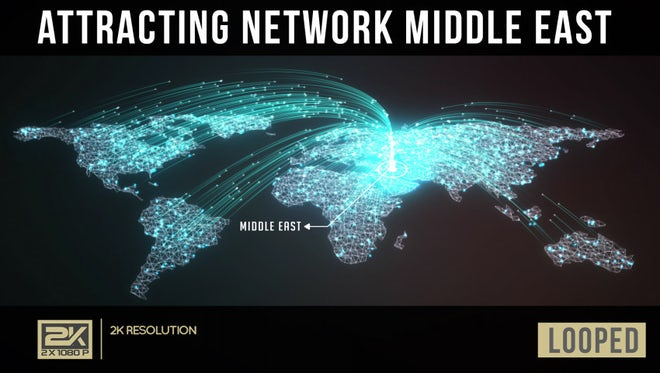 Attracting Network Middle East: Stock Motion Graphics