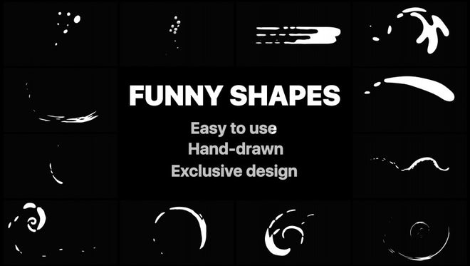 Funny Abstract Shapes: After Effects Templates