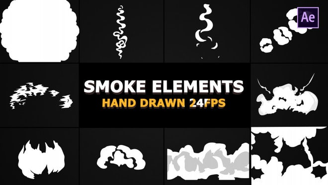 Smoke Elements and Transitions Pack: After Effects Templates
