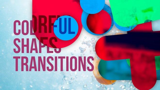 Colorful Shapes Transitions: Premiere Pro Templates
