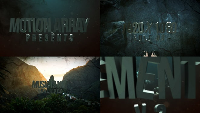 Epic Cinematic Slideshow - Intro: After Effects Templates