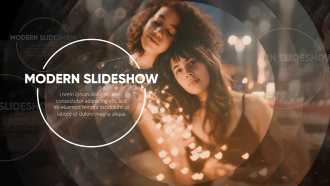 Modern Slideshow - Circle Promo: After Effects Templates