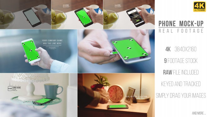 Phone Mock-Up Real Footage: After Effects Templates