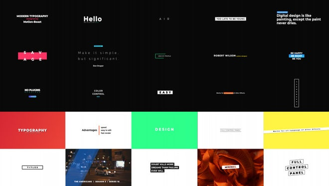 Minimalist Titles: After Effects Templates