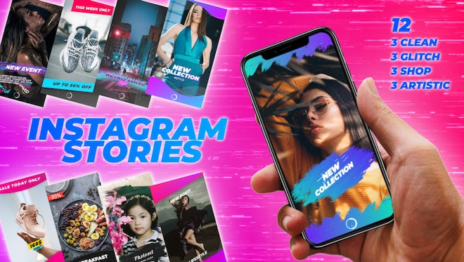 Instagram Stories Pack: Motion Graphics Templates