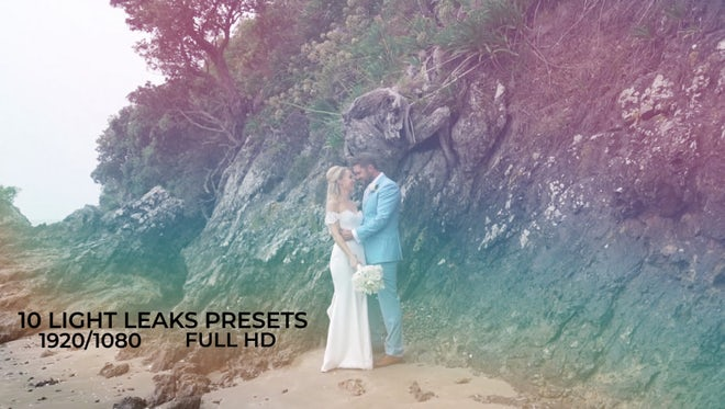 10 Light Leaks Presets: After Effects Presets