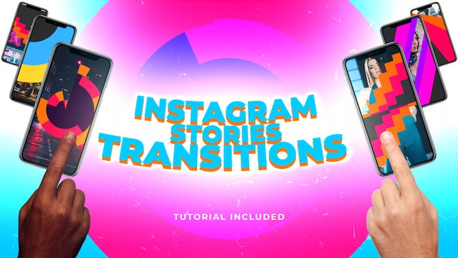 Instagram Stories Transitions: After Effects Templates