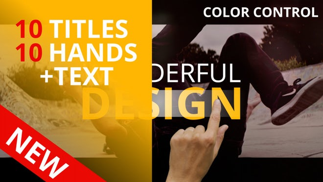Titles & Hands+Text: Motion Graphics Templates
