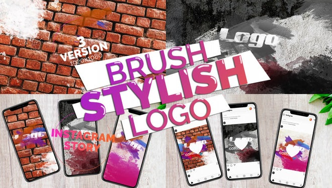 Brush Stylish Logo: Premiere Pro Templates
