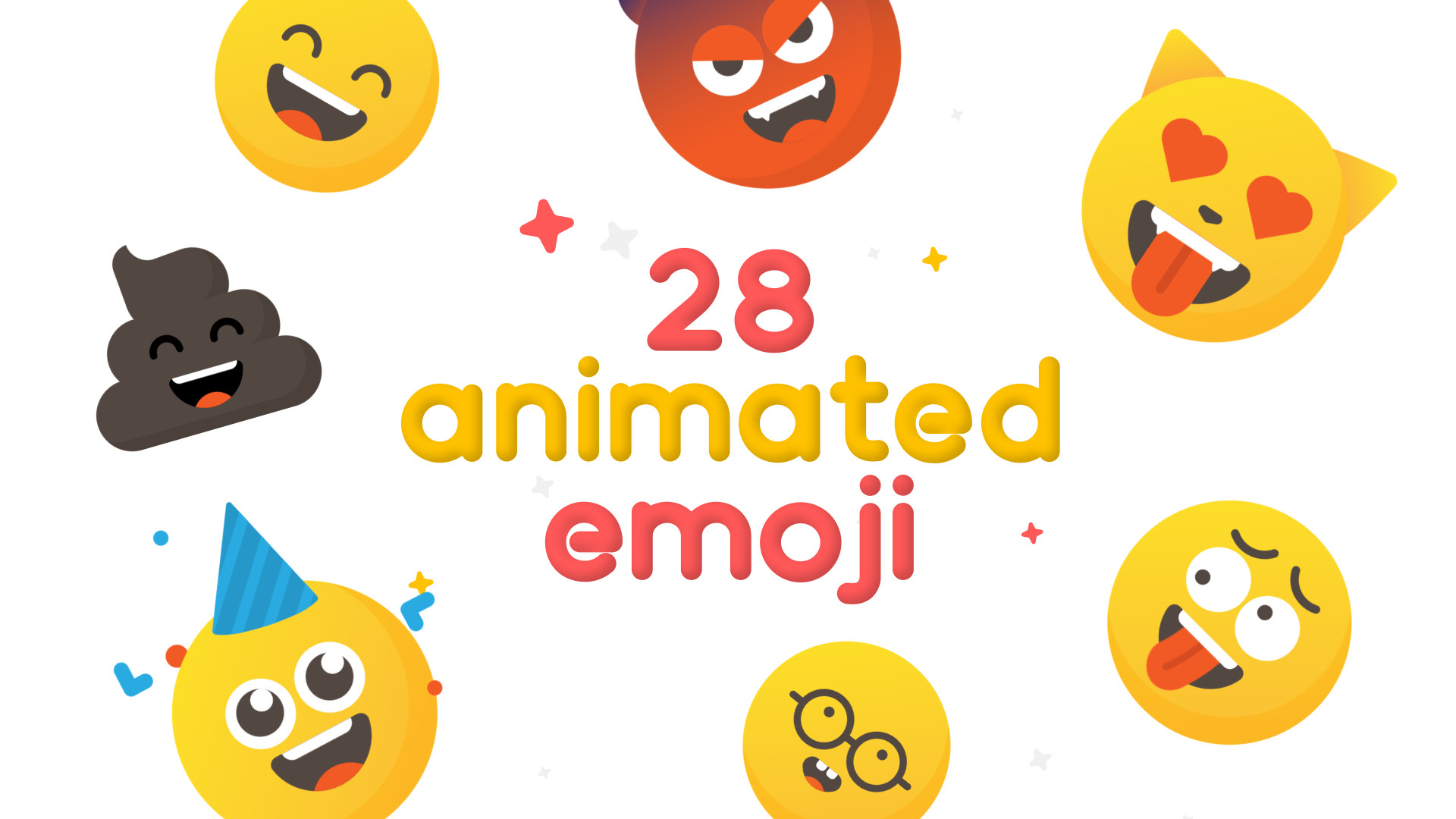 28 Animated Emoji - After Effects Templates | Motion Array