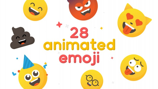 28 Animated Emoji: After Effects Templates
