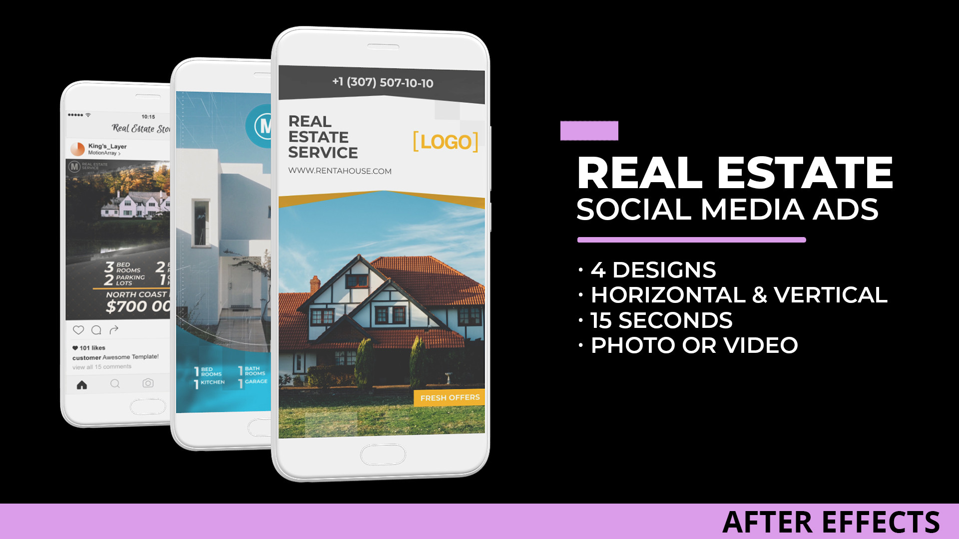 Real Estate Social Media Ads After Effects Templates Motion Array
