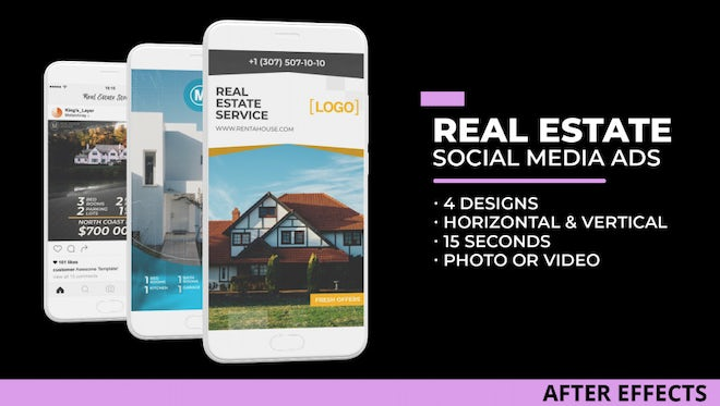 Real Estate Social Media Ads: After Effects Templates