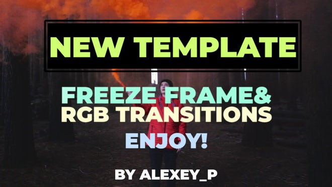 Freeze Frame & RGB Transitions: Premiere Pro Templates