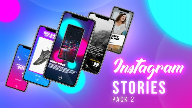 Instagram Stories Pack 2: Motion Graphics Templates