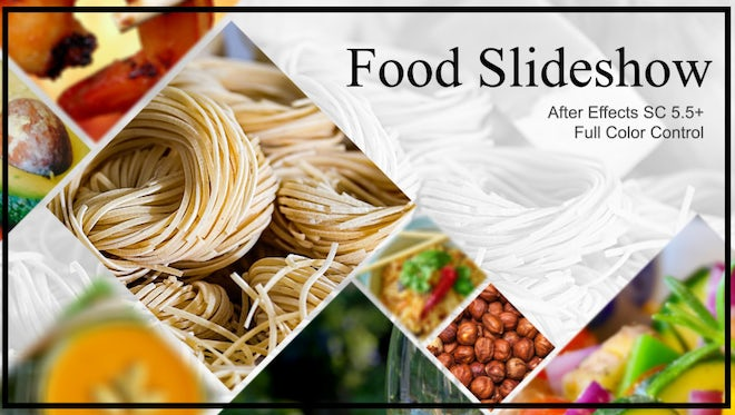 New Food Slideshow: After Effects Templates